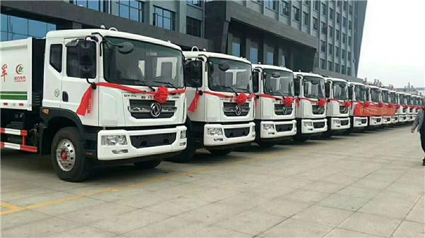 广东韶关8吨压缩垃圾车价格配置表  东风垃圾车厂家售后流程