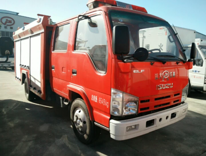 五十铃双排水罐消防车视频