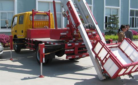 云梯车工作视频_客户反馈云梯车现场工作视频