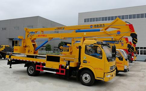 东风18米高空作业车工作_SCS5080JGKEQ高空作业车