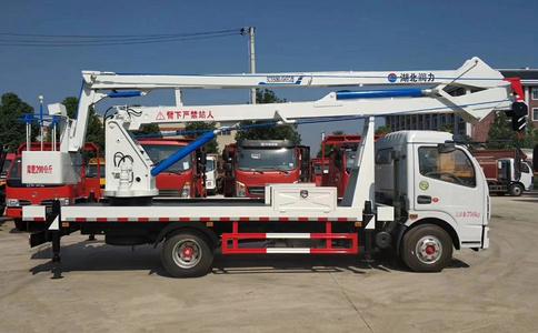 东风多利卡18米叠臂式高空作业车厂家视频_叠臂式高空作业车