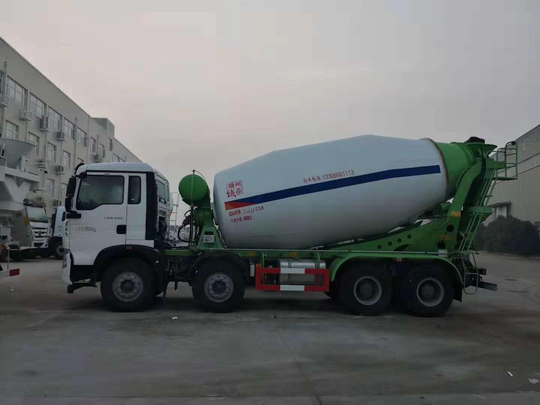 汕尾市陕汽德龙轻量化12方搅拌车厂家价格37.5万起