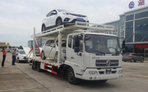 東風天錦一拖三轎運車廠家視頻展示