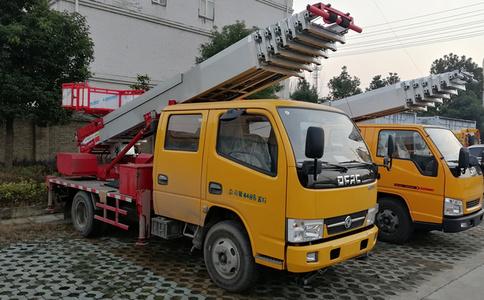东风多利卡28米高空作业云梯车视频_28米云梯车
