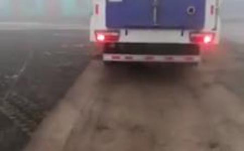 吸尘车现场使用效果