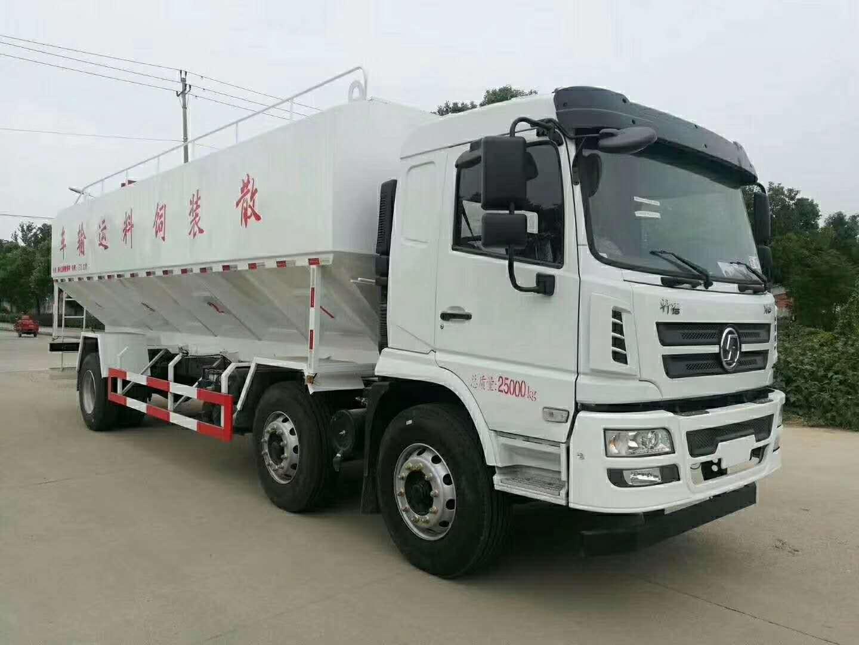 陕汽轩德小三轴(30方/15吨)散装饲料运输车图片