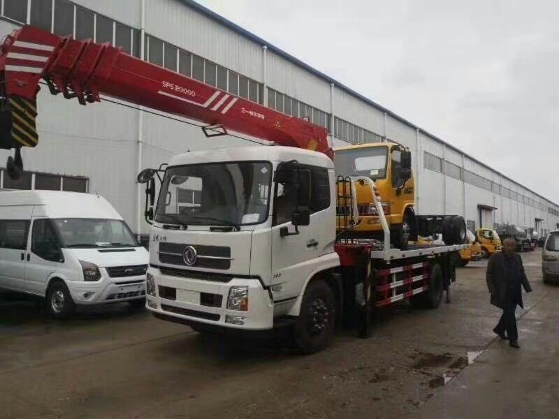 东风天锦6.3吨吊机清障车图片