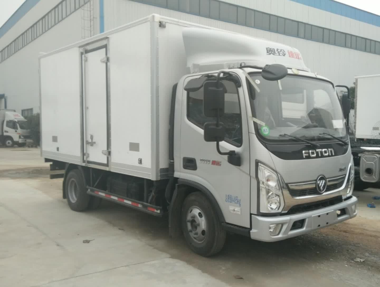 福田奥铃速运冷藏车视频