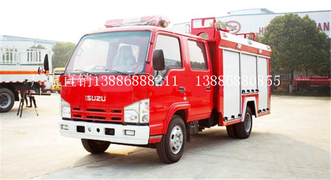 100P庆铃2吨水罐消防车