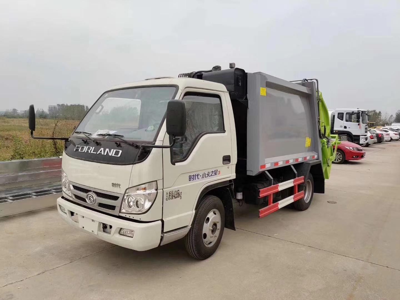 福田时代小卡之星3多功能4方压缩垃圾车图片