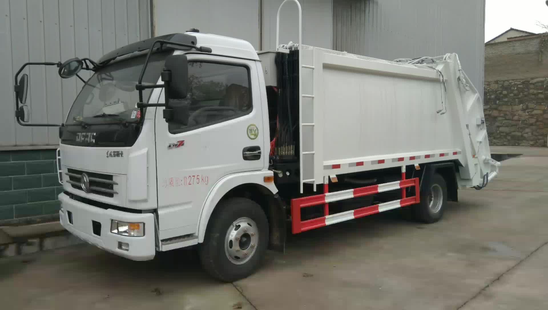 东风多利卡D7压缩垃圾车视频