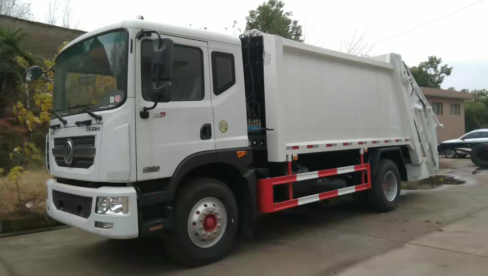 东风多利卡d9压缩垃圾车视频