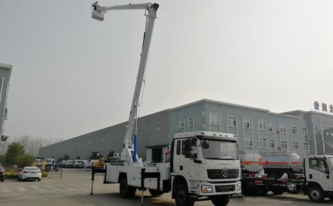 陕汽20米高空作业车工作视频_高空作业车出口车型视频