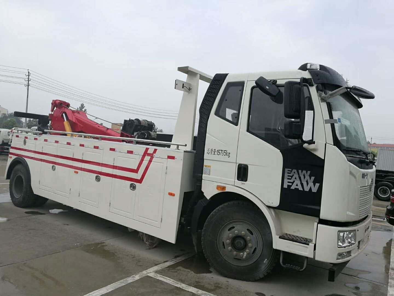 13吨解放J6拖吊联体清障车