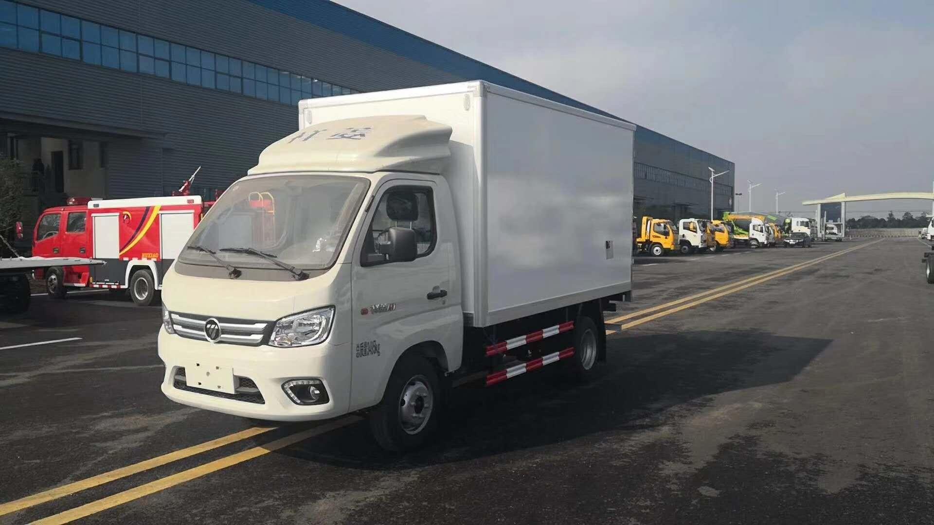 福田3米厢体猪肉冷藏运输车5度和15度冷藏机组可选