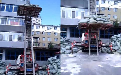 高空搬家作业车_润知星牌28米高空搬家作业车工作视频视频