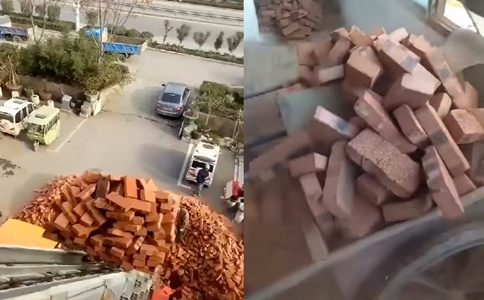 润知星牌28米云梯搬家车工地实况操作视频展示