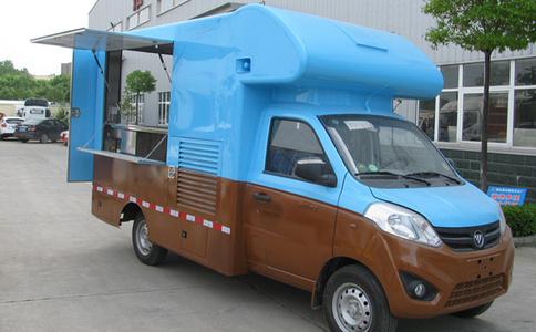 福田奥铃T3小型售货车_冰激凌售卖车出口车型