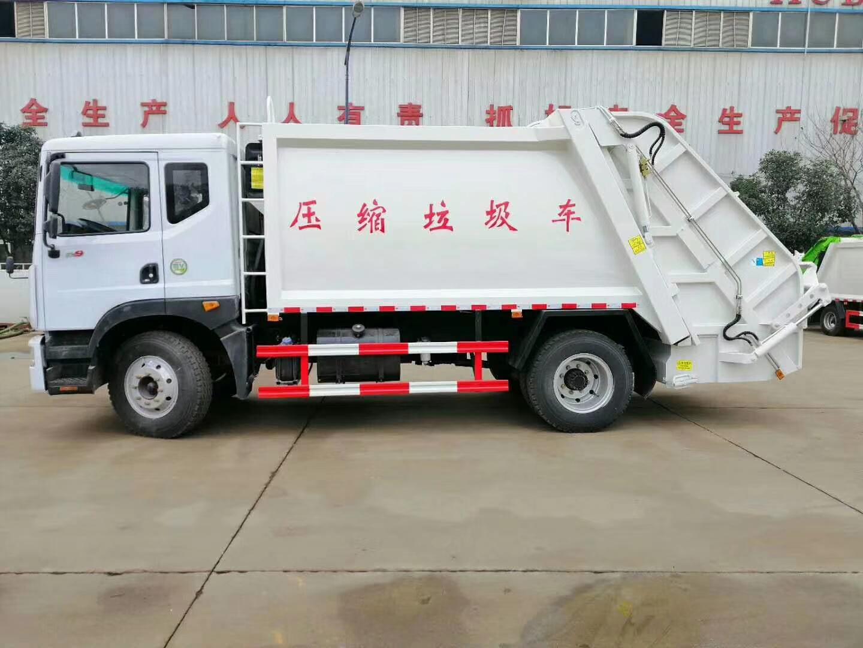东风10吨压缩垃圾车尾部选装翻桶机构
