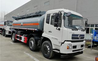 东风天锦小三轴15方腐蚀性物品罐式运输车|氨水运输车图片