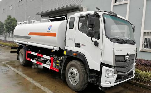 福田欧马可新款驾驶室国六排放十方洒水车|国6排放10方水车