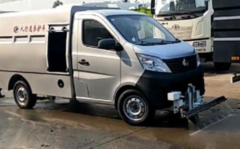 小型清洗车人行道路清洗车价格视频