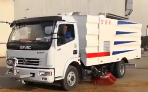 扫路车8方容积加装电子水炮工作视频视频