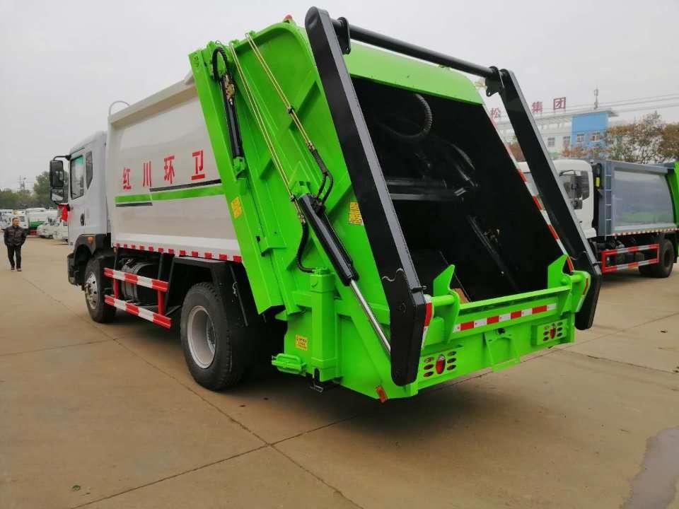 10方压缩垃圾车摆臂式压缩垃圾车价格图