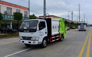 蓝牌压缩式垃圾车4方东风小多利卡_C照可以开图片