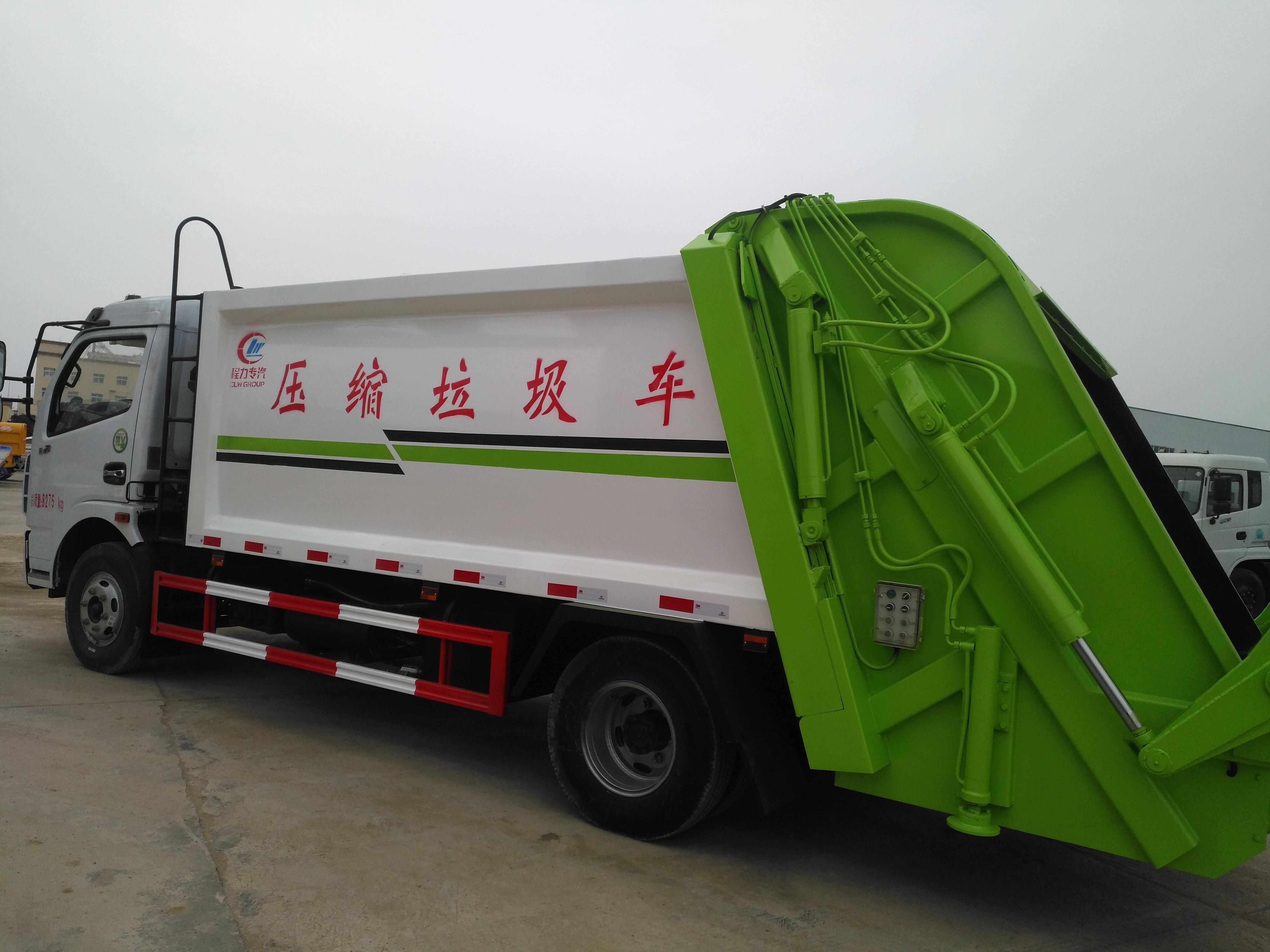 国五东风大多利卡8方压缩式垃圾车图片