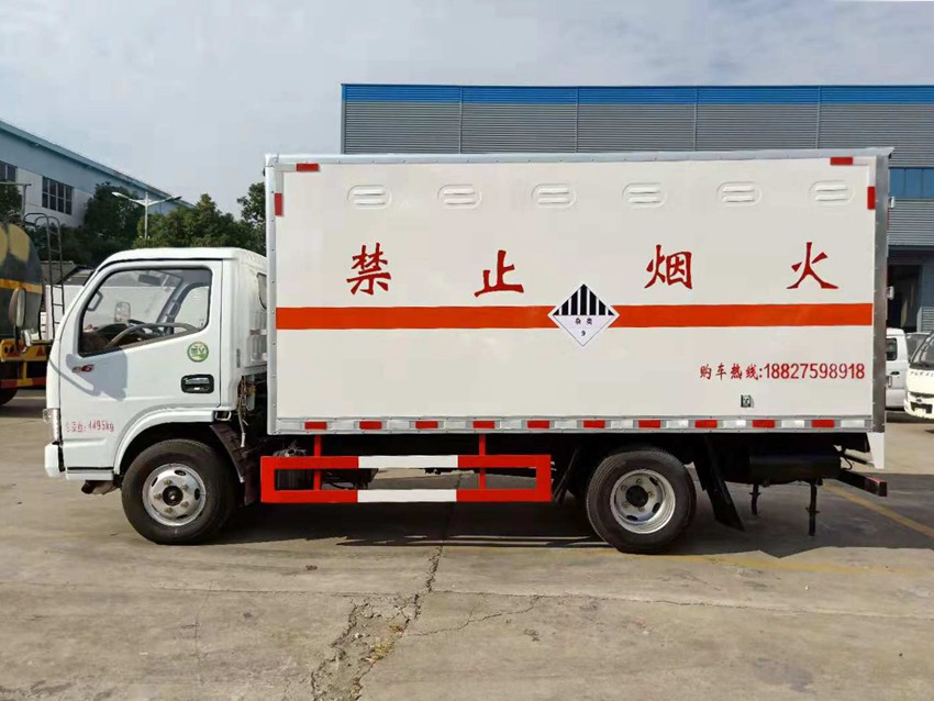 东风多利卡6类毒性危险品厢式运输车