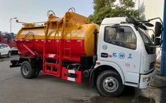 江苏海安液压油缸卸料式_潲水_泔水_餐厨垃圾车图片