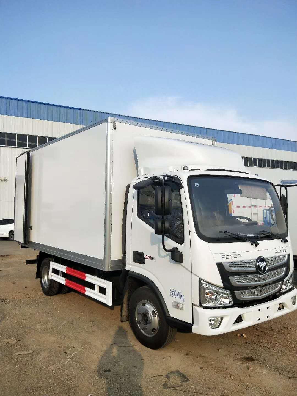 福田欧马可冷藏车4米厢长海鲜冷藏运输车最低价格