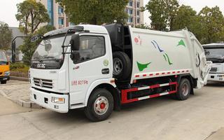 东风8方后装式挂桶压缩垃圾车(240L和660L)图片