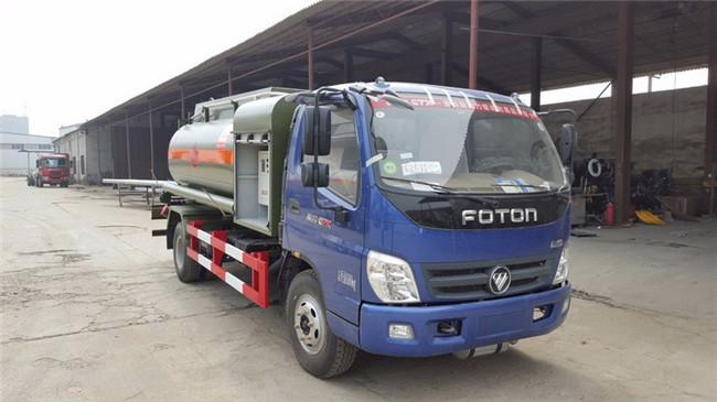 福田奧鈴4噸加油車145馬力康明斯圖片