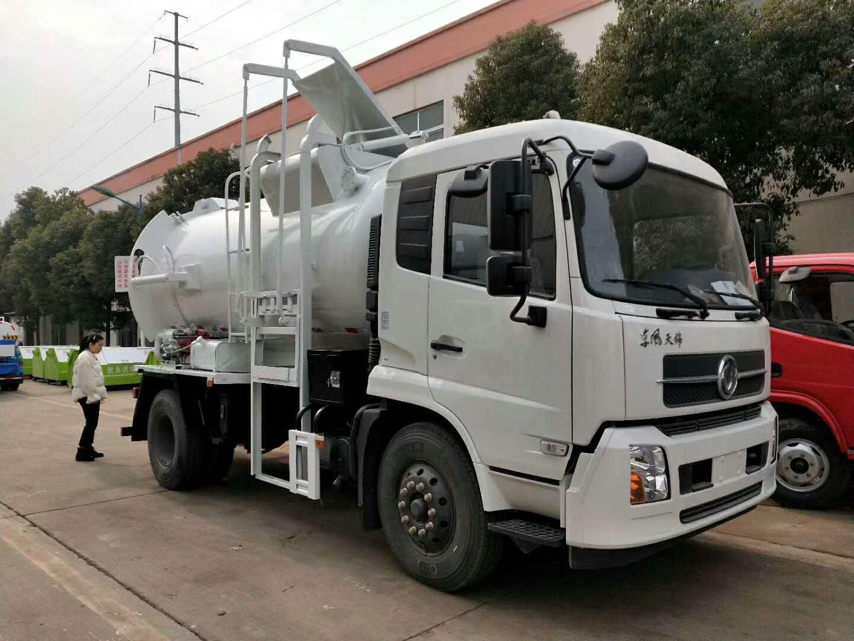 10-12方东风天锦餐厨垃圾车(不锈钢,带加热系统)