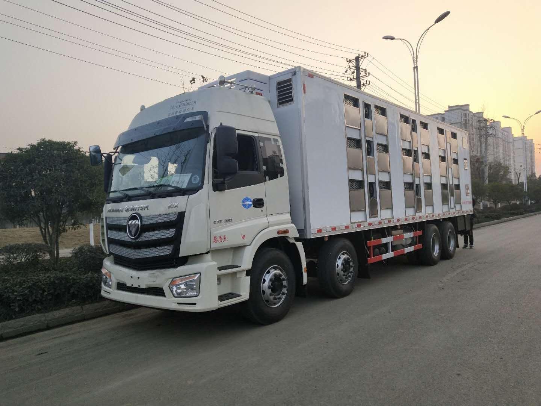 运猪车_畜牧专用车9.6米价_程力9.6米货车拉猪厂家
