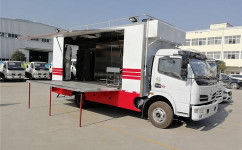 东风多利卡4X2餐车|餐饮车|移动式餐饮车视频