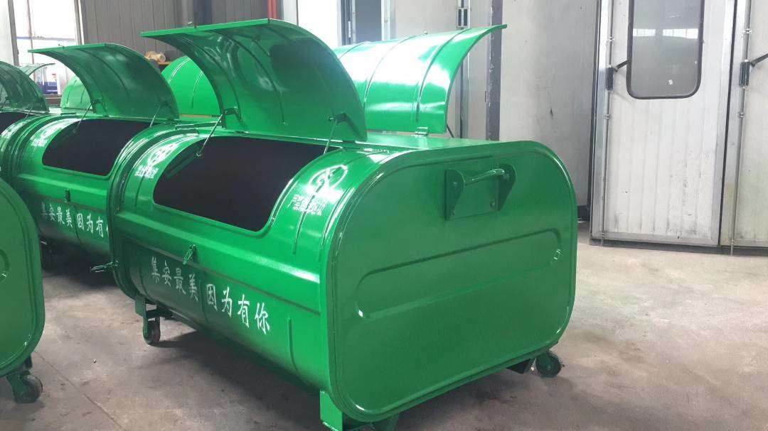 钩臂垃圾车箱2.5方垃圾箱4方垃圾箱多少钱一个