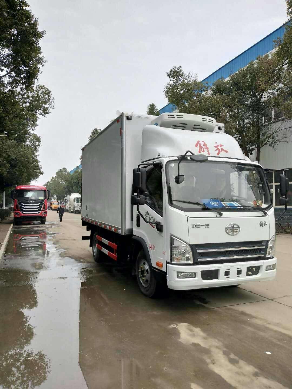 解放虎v冷藏車廠家報價-5度冷藏保溫車-15度冷凍車