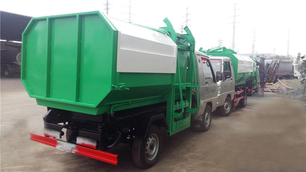 福田驭菱3吨挂桶垃圾车图片