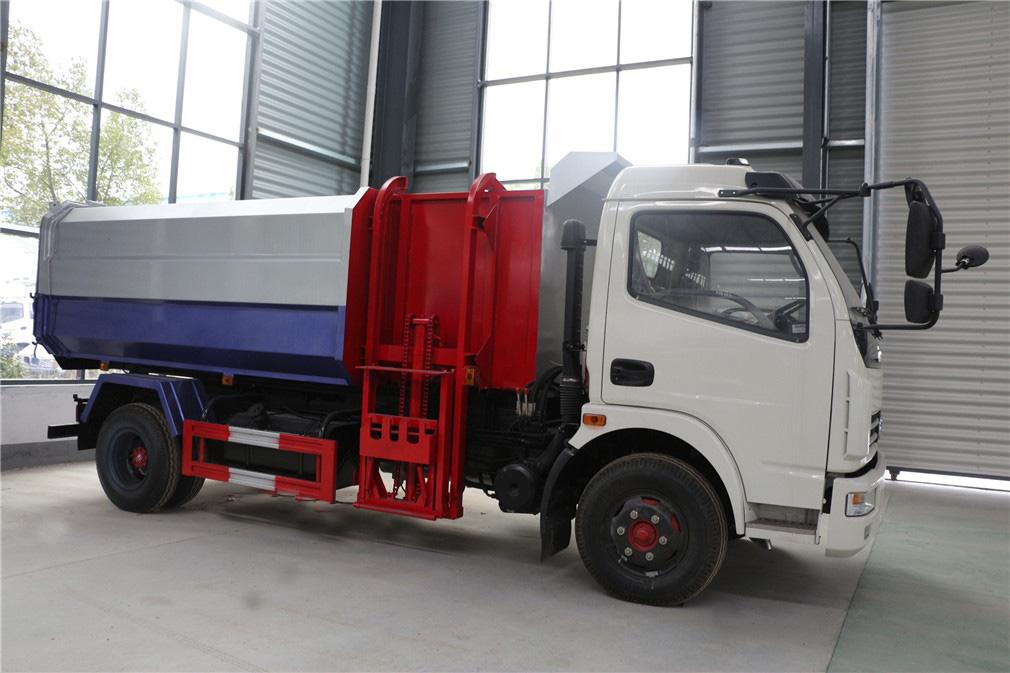 东风多利卡8吨挂桶式垃圾车图片