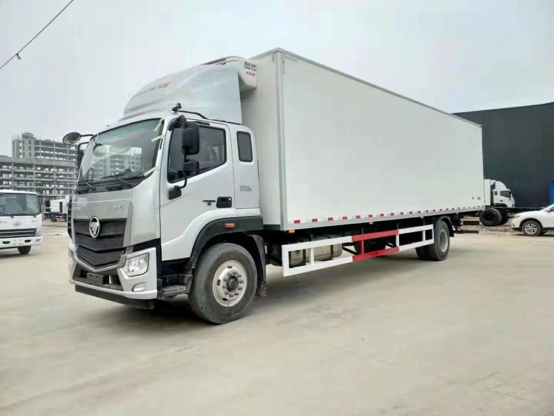 福田歐馬可S5廂體長9.6米單橋冷藏車