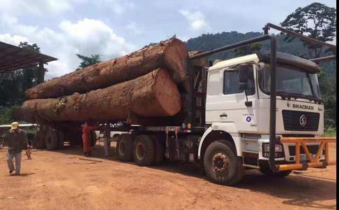 原木运输车|陕汽6X6木材运输车出口车型|木头运输车辆出口