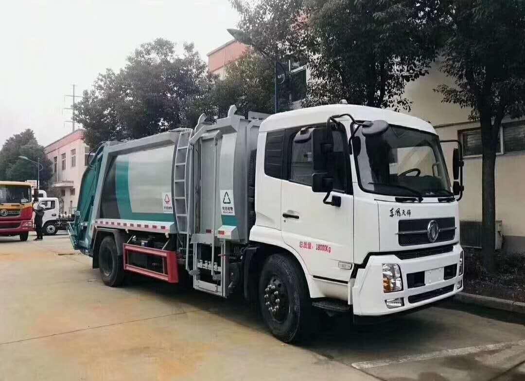 12方分类式压缩垃圾车价格东风天锦国六新车型