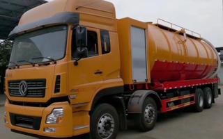 东风天龙前四后八36方大吨位重型清洗吸污车图片