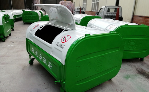 钢制环卫垃圾箱 垃圾收集箱 小区使用垃圾箱