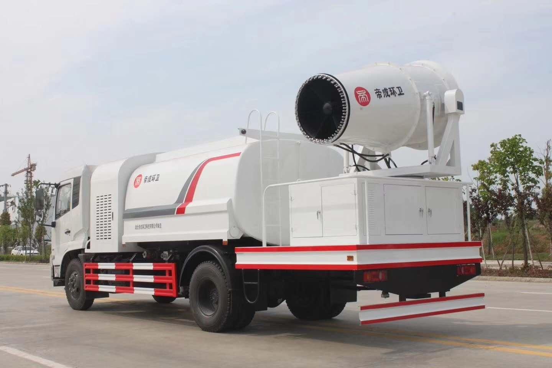 東風天錦11方水罐配置80米霧炮多功能抑塵車試車效果視頻!視頻