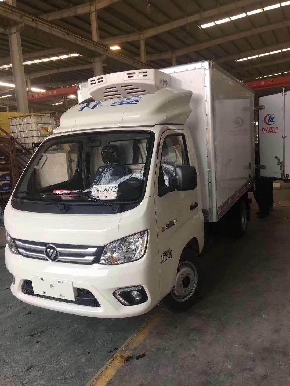 蓝牌3米厢体冷冻鸡肉冷藏运输车福田祥菱冷藏车价格