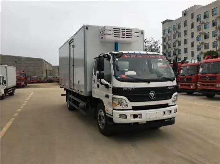 福田6.1米厢体冷藏车冷链运输车价格